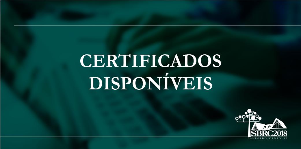Os certificados estão disponíveis