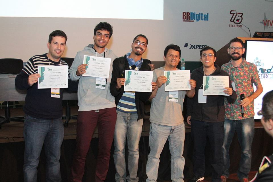 Time Agrotech vencedor do Hackathon SBRC 2018